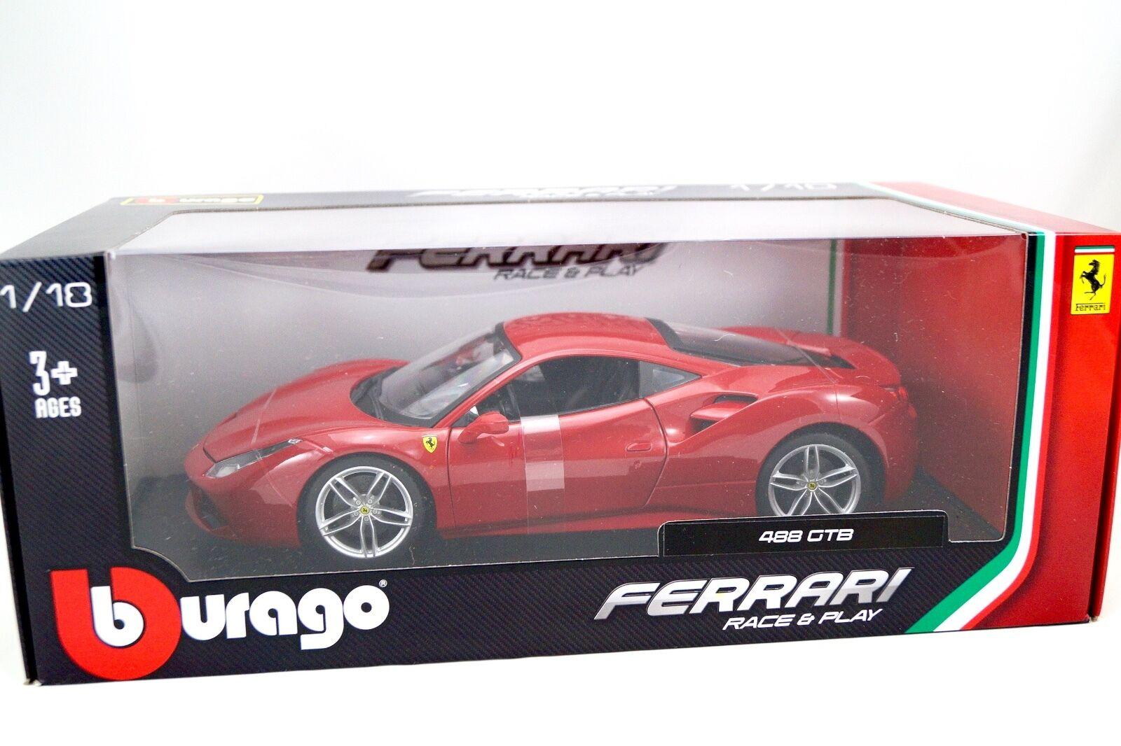 FERRARI FERRARI FERRARI 488 GTB  1 18 BURAGO b63d7e