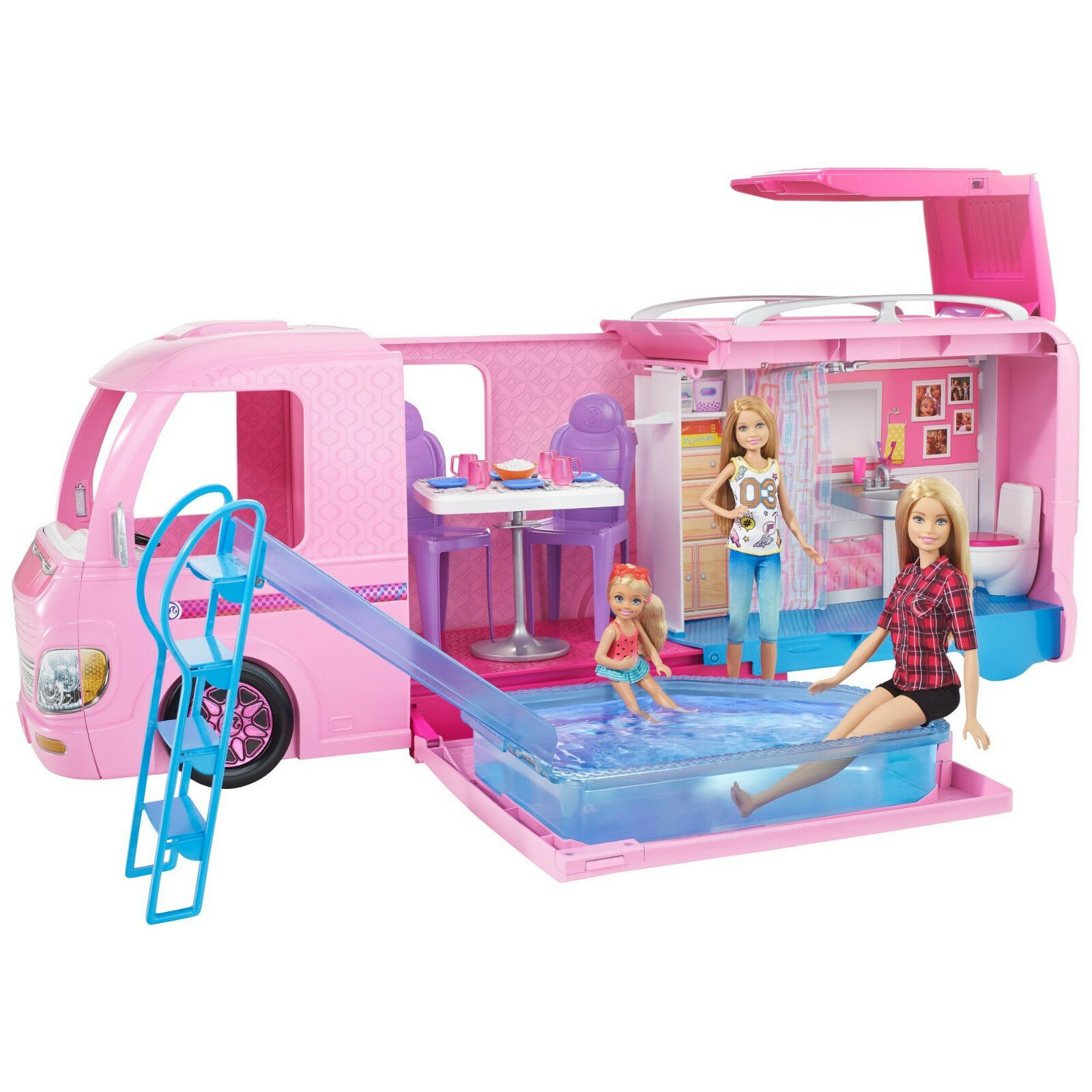 Barbie Dream Camper spelagset (Glamping spelastat) med Camping Accessors BRAND