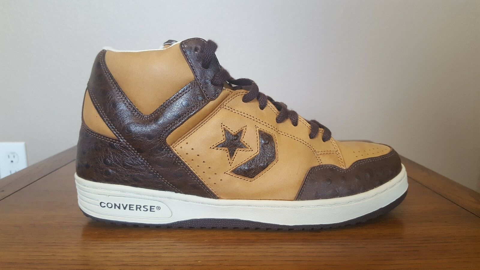 CONVERSE WEAPON BROWN BASKETBALL / OSTRICH BASKETBALL BROWN SHOES SIZE 11.5 6bbf1e