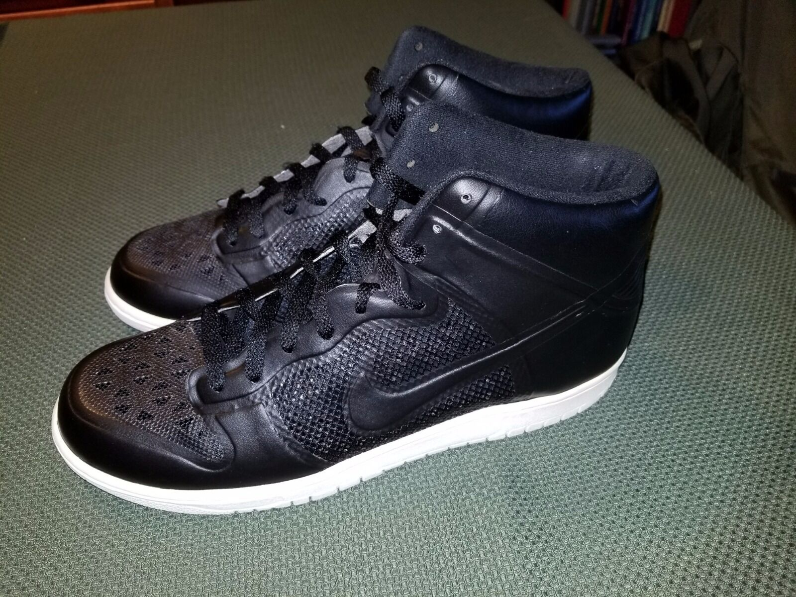 NIKE DUNK HI FUSE Black Sneakers Size US 11 Pre-Owned