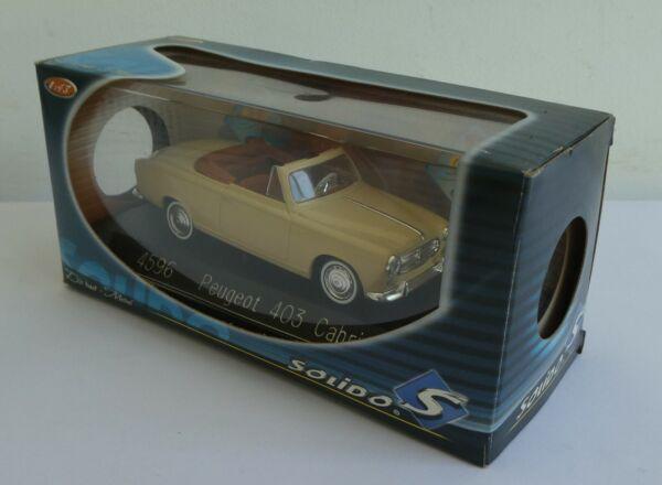 # 4596 Solido Voiture Peugeot 403 Cabriolet 1961 Sixties En Boite 2005 Calcul Minutieux Et BudgéTisation Stricte