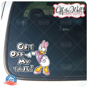 Daisy-034-Get-Off-My-Tail-034-Die-cut-Printed-Vinyl-Sticker-for-Cars-Trucks