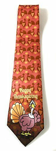 Stonehouse Collection Men/'s Thanksgiving Tie Funny Novelty Thanksgiving Tie