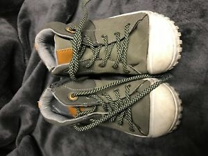 d5c39a111a1190 Toddler Boys Cat   Jack Gray Orange Hi Top Sneaker Size 1