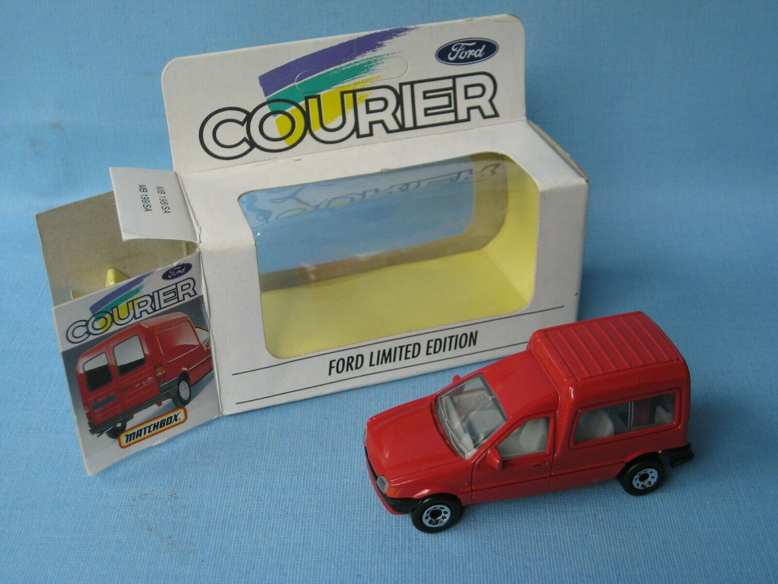 Matchbox Ford Courier Kombi Van RARE Red Body Toy Model Car 75mm