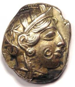 Xf! Ancient Athens Greece Athena Owl Tetradrachm Coin 454-404 Bc