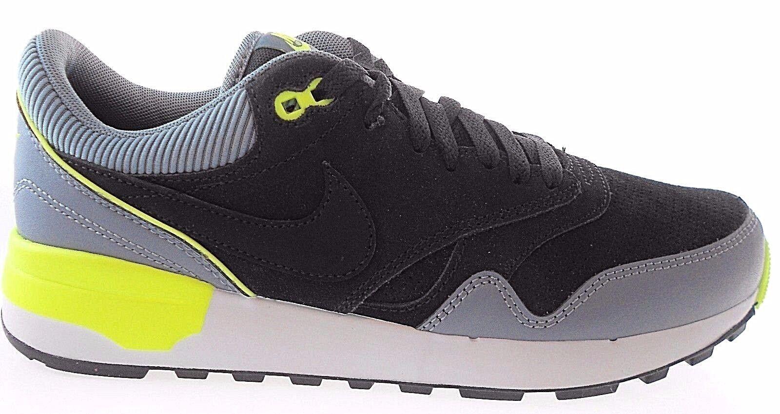 Nike Air Odyssey de los hombres del zapatillas, cuero negro / gris zapatillas, del reducción de precio 5e0e1a