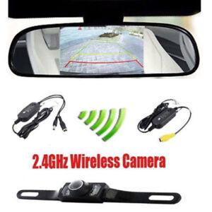 Funk-HD-IR-Rueckfahrkamera-Nachtsicht-Auto-KFZ-Einparkhilfe-mit-4-3-034-Monitor