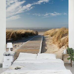 vliestapete ostsee strand fototapete quadrat tapete wandtapete dekotapete wand ebay. Black Bedroom Furniture Sets. Home Design Ideas