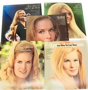 Lynn-Anderson-Bundle-Of-5-Vinyl-LP-Records-Stay-Till-I-Get-There-Rose-Garden