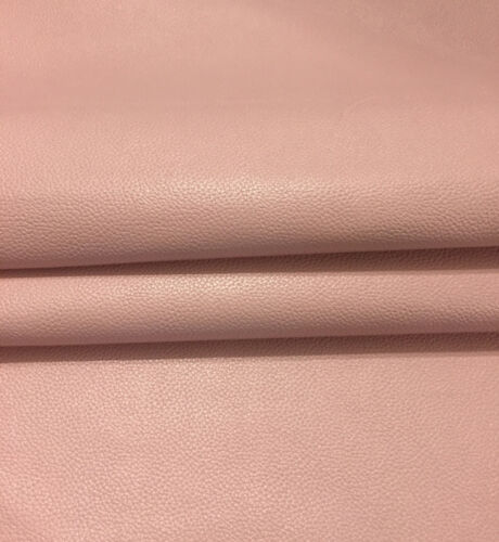 SALE Pink Genuine Lambskin Leather Textured Hide Upholstery Craft Material 981-7