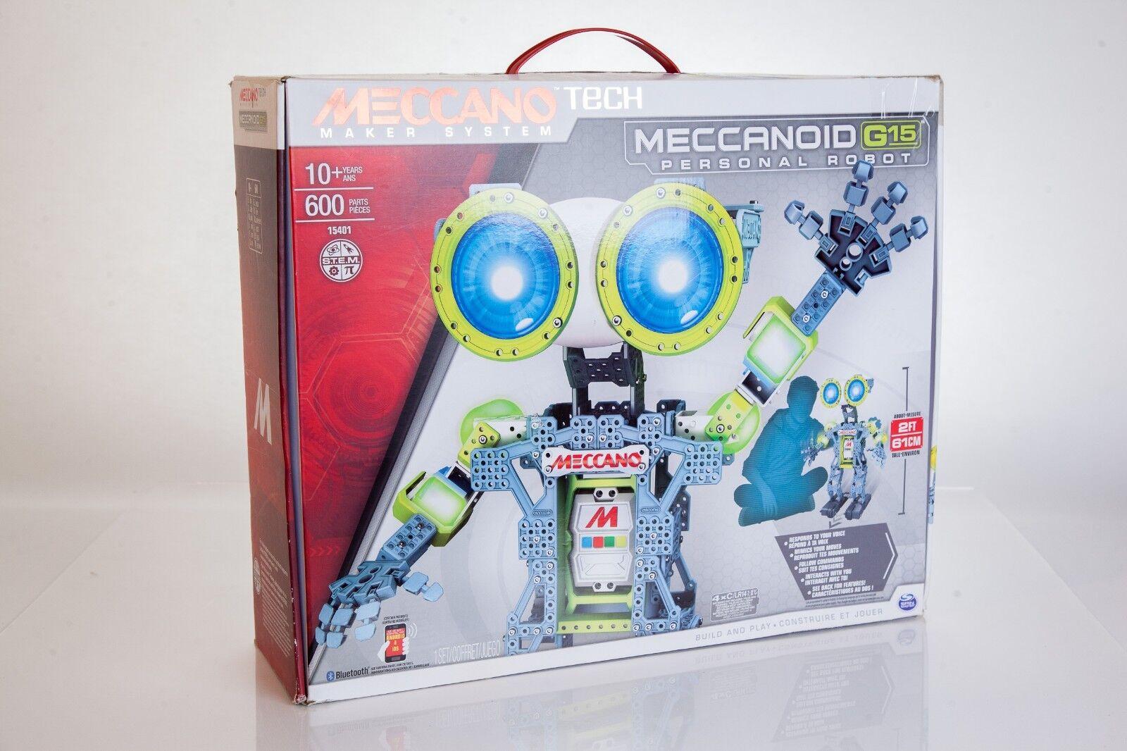 Meccano MeccaNoid G15 Android Robot 600 Piece Metal Building Set A4-3