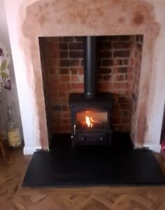 Details about Fireplace Hearth | LARGE Hearths 1m Deep Various Width |  Natural Black Limestone