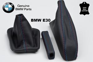 handbrake handle BMW E30 83-91 M stitch SET M Leather gear stick gaiter boot