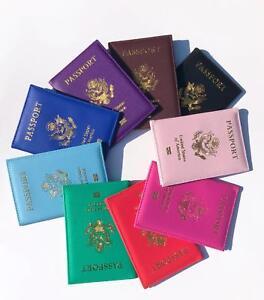 Details about Passport Holder Travel Wallet Cards Case Cover With USA  National Emblem Logo
