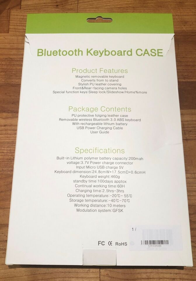 Tastatur, CASE, Bluetooth Keyboard til iPad
