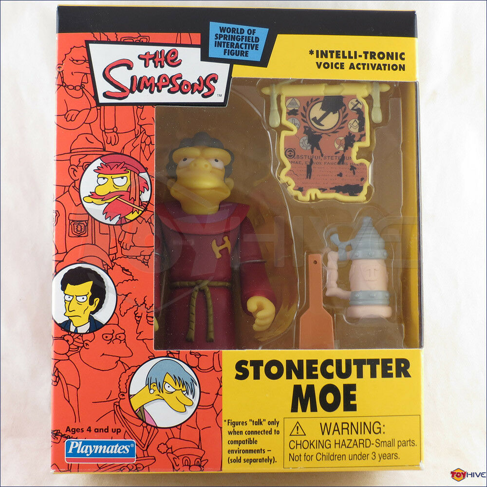 Simpsons exclusivo Cantero Moe 2003 Intelli-tronic correo-lejos figura