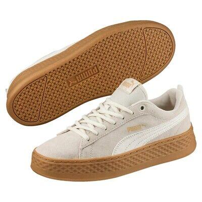 Puma Smash Platform SD Damen Sneaker Schuhe 366488 Birch SALE | eBay