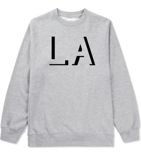 Kings Of NY LA Initials Los Angeles Cali Crewneck Sweatshirt