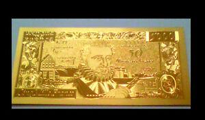 """Le Meilleur ★★ Billet Polymer """" Or """" Du 50 Nvx F. / 5000 Francs Henri Iv ● Destockage ★ Ref1"""
