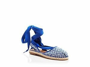 4eb85fe6e NEW Authentic TOMS Women's Blue Lace Up Espadrille Flats, Bella ...