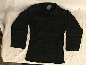 NWOT-039-s-3rd-Party-Military-Style-BDU-Black-Color-Cargo-Jacket-Top-X-Small-Regular
