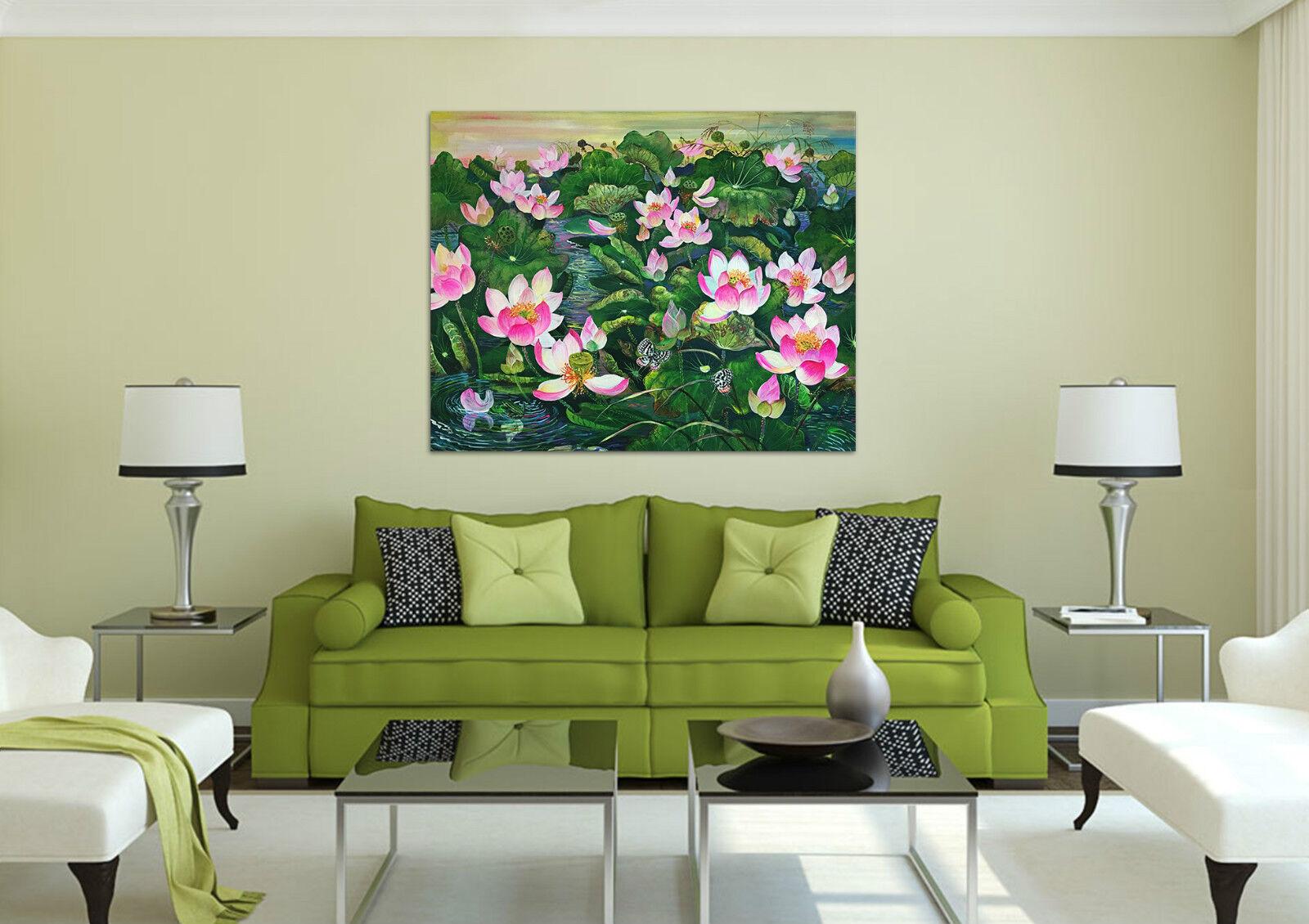 3D Grn Lotusblatt , Lotus 26 Fototapeten Wandbild BildTapete Familie AJSTORE DE