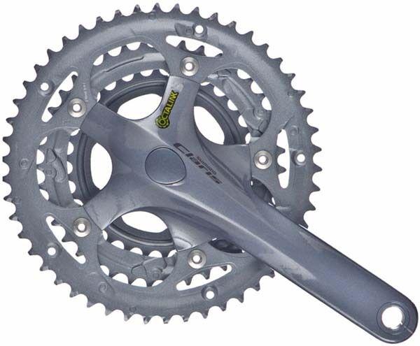 Shimano Claris 2403 Octalink Triple Chainset Road Racing Bike 30 39 50T 8 speed