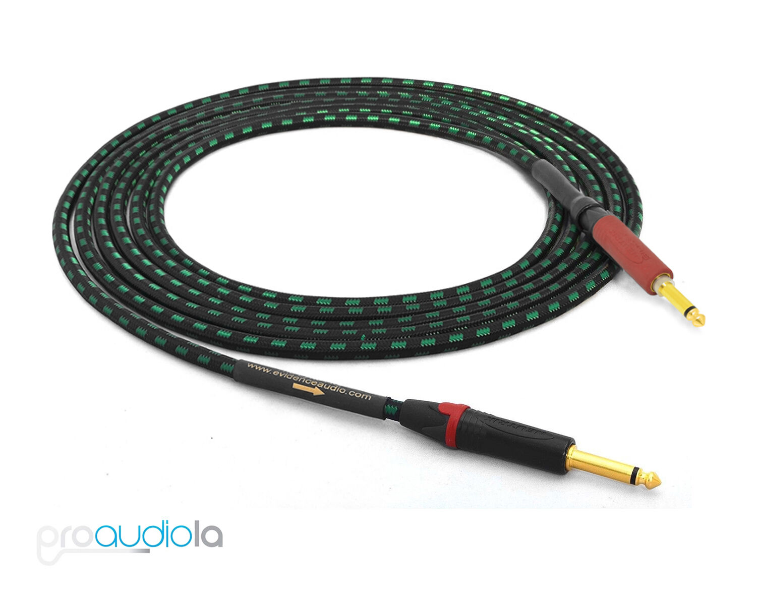 Evidence Audio Lyric HG Instrument Cable   Neutrik guld TS to Silent TS   30 Ft.