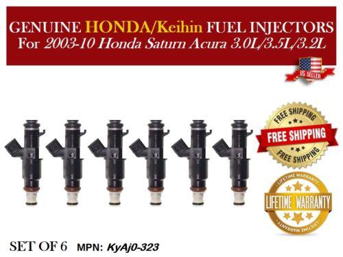 6x Fuel Injectors OEM Keihin for 2003-10 Honda Saturn Acura 3.0L//3.5L//3.2L