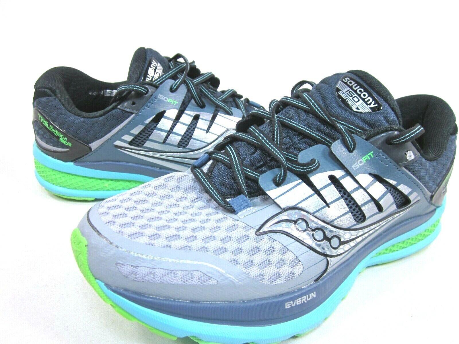 SAUCONY donna TRIUMPH ISO ISO ISO 2 RUNNING scarpe,S10291-1, grigio blu SLIME,WIDE WIDTH 4fd60b