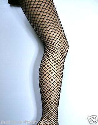 100% Vero Collants Ibici De Luxe Noirs Black Mailles Petites Résilles Taille Xl 4 Rinfresco