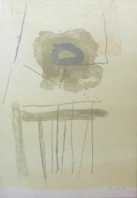 "ROBERT MOTHERWELL ""CHAIR"" 1971/72 HAND SIGNED LIM.ED LITHOGRAPH LARGE 38.5""x28"""
