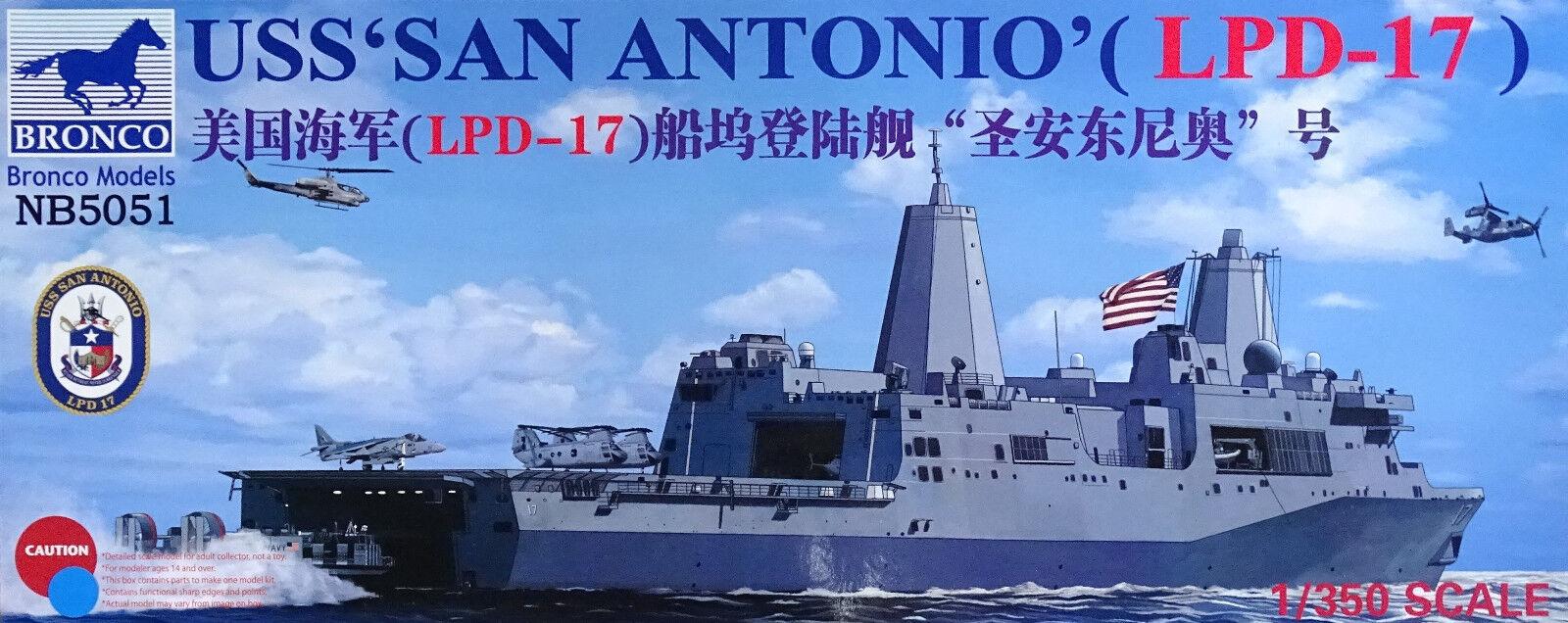 BRONCO NB5051 USS San Antonio LPD-17 in 1 350  | Günstige