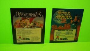 NEO-GEO-World-Heroes-2-And-BaseBall-Stars-Video-Arcade-Game-Plastic-Inserts-SNK