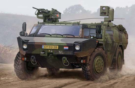 05533 Trumpeter 1 35 Model German Fennek LGS Dutch Ver Armored Car Tank Kit