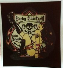 RAT ROD HOT ROD DECAL STICKER  CHOPPER  BOBBER  LUCKY THIRTEEN