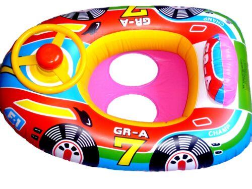 con sterzo Multicolore auto da corsa Baby Nuoto Sedile//barca b010 P