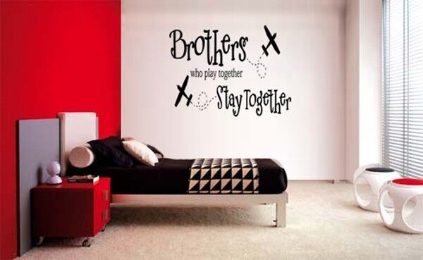 BROTHERS WHO PLAY TOGETHER STAY TOGETHER DECAL WALL VINYL BOYS STICKER ROOM