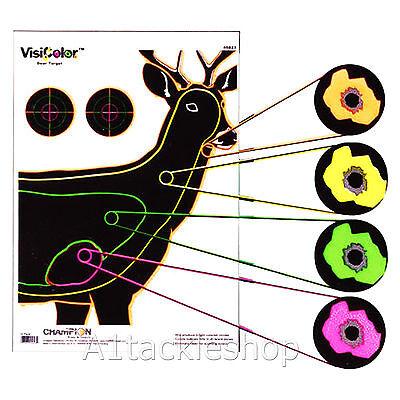 10 Visi-Colour Deer Stalking Shooting Rifle Targets