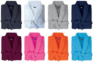 MENS-amp-WOMENS-100-COTTON-TERRY-TOWELLING-SHAWL-COLLAR-BATH-ROBE-DRESSING-GOWN