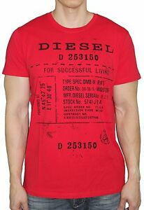 d30567f6 Details about Diesel Brand Men's T Diego fz Slim Fit Code printed Vintage Tee  T Shirt Top