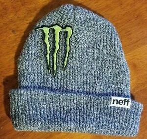 a77a18f3638 Monster Energy Beanie Athlete Dew Tour Winter Sponsor X Games Black ...