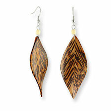 Kokos Holz Ohrringe Hänger Handarbeit Natur Design ER279