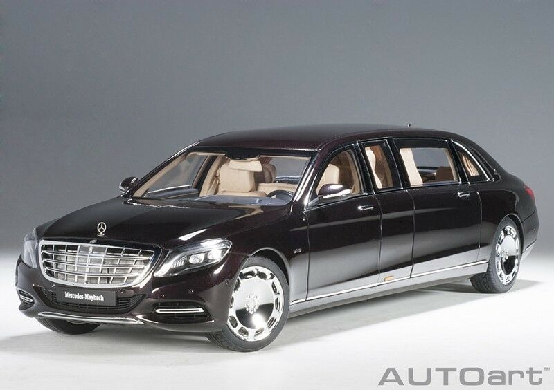 AUTOART 76299 1/18 MERCEDES Maybach s600 PULLMAN (2016) Dark Red Red Red Metallic | Faible Coût  0be2a7
