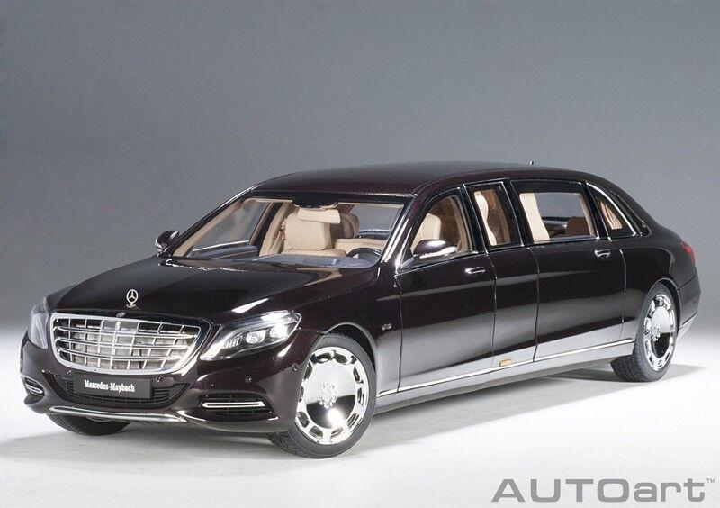 bilkonst 76299 –1  18 Mercedes Maybach S600 Pullman (2016) -Mörkröd metall