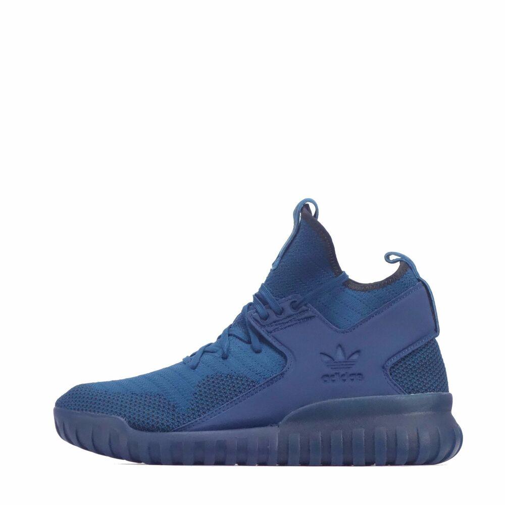 Adidas Originals Tubular X Primeknit Chaussures Hommes bleu/bleu-
