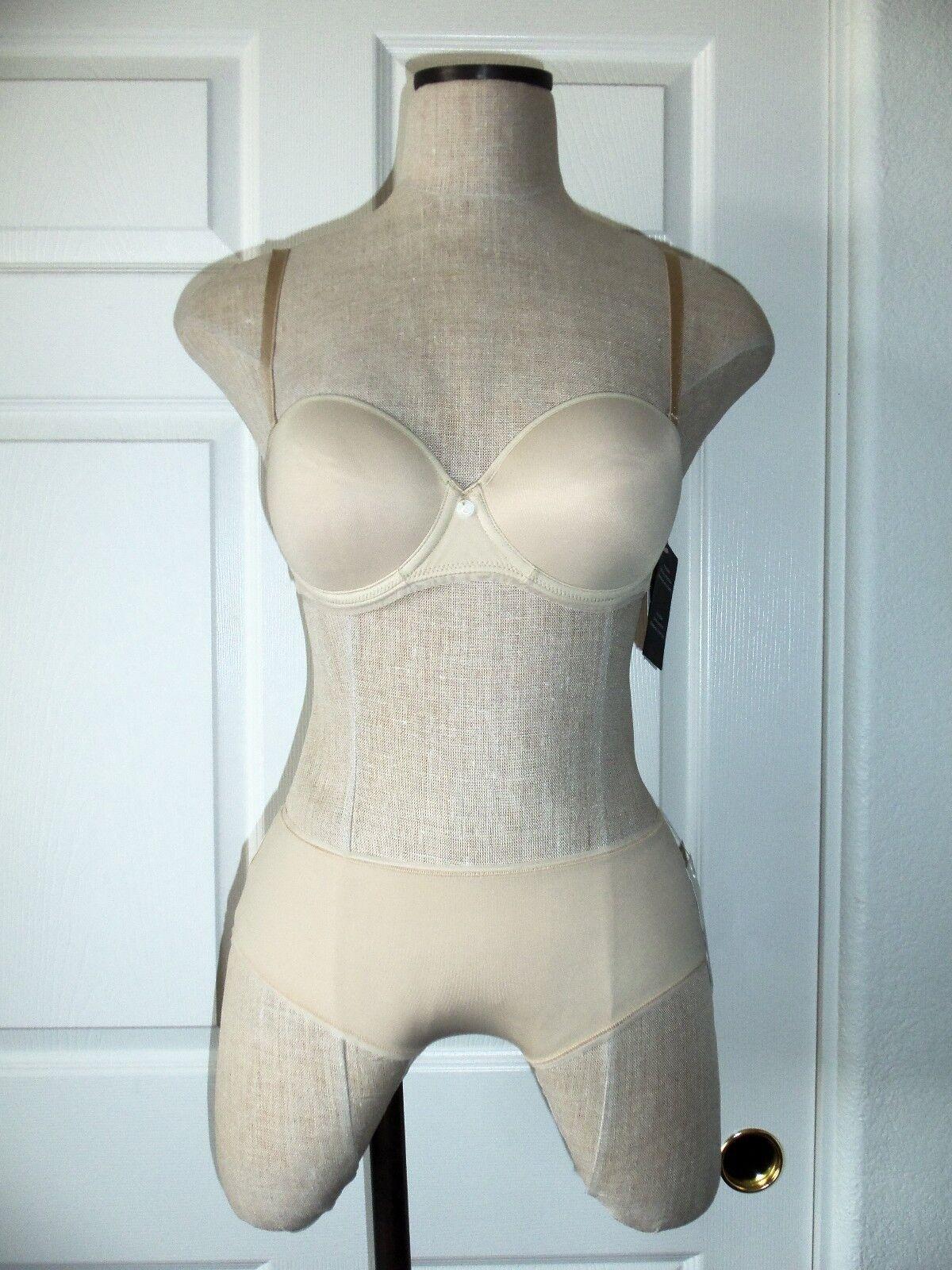 Chantelle SENSUA Beige Nude 3065 Congreenible Strapless Bra 32C & 3064 Shorty XS