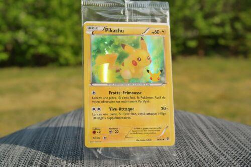 RARE Carte anniversaire Pokémon 20 th 2016 FR exclu Toys R Us • 26//83 Pikachu