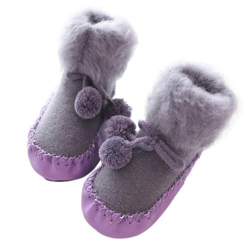 Toddler Non-Slip Boot Socks Kid Baby Winter Cartoon Warm Shoes Anti-slip Slipper